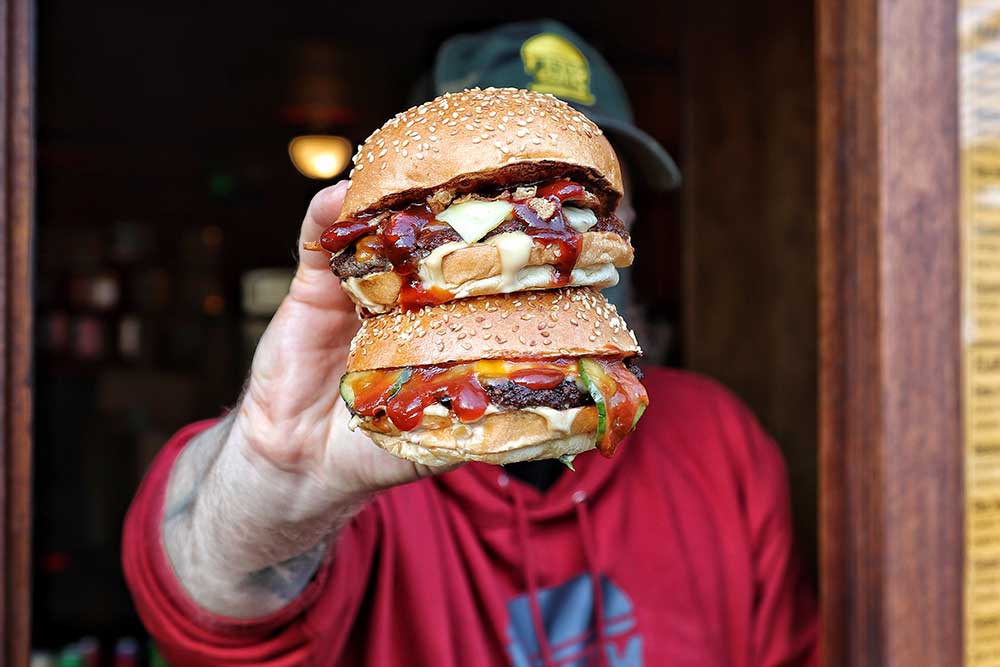 Filthy Buns is back at The Three Compasses with a new hatch, delivery and new burgers