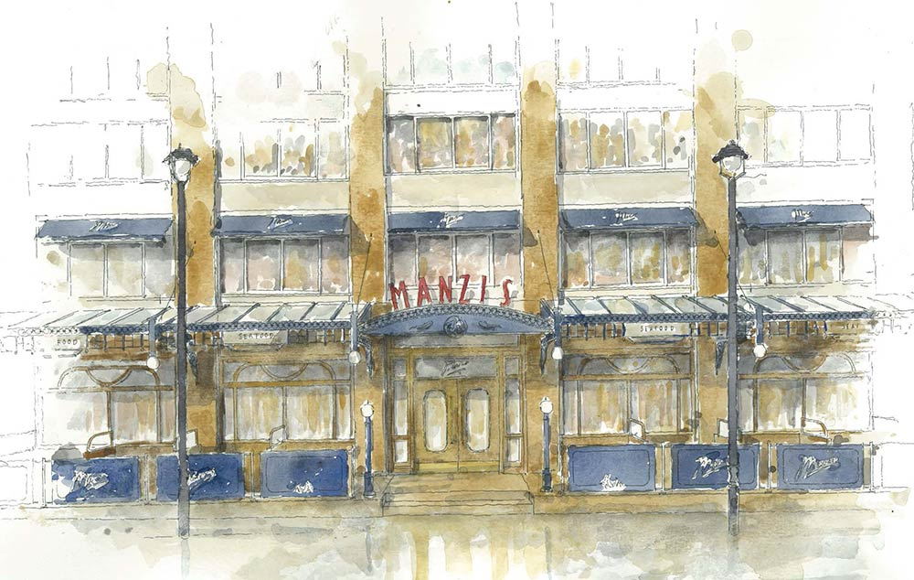 Manzi's will be Corbin and King's next project - a huge seafood restaurant in Soho