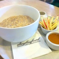 Porridge with apple and honey at Daylesford