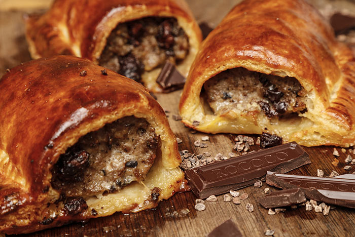 The Ginger Pig chocolate Sausage Roll