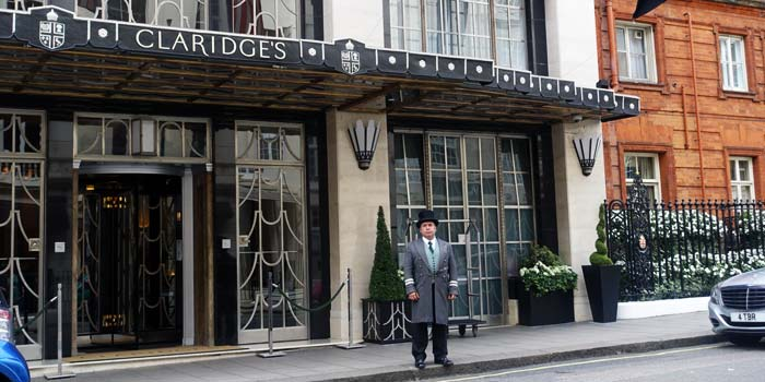 Outside claridges