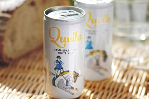 24 cans of Quello semi-sparkling white wine
