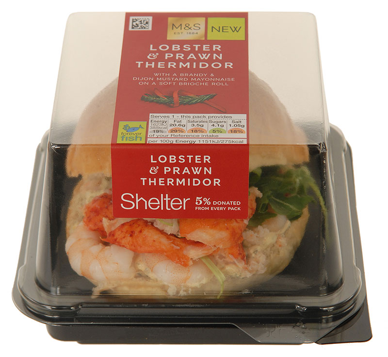 Lobster thermidor in a bun from M&S