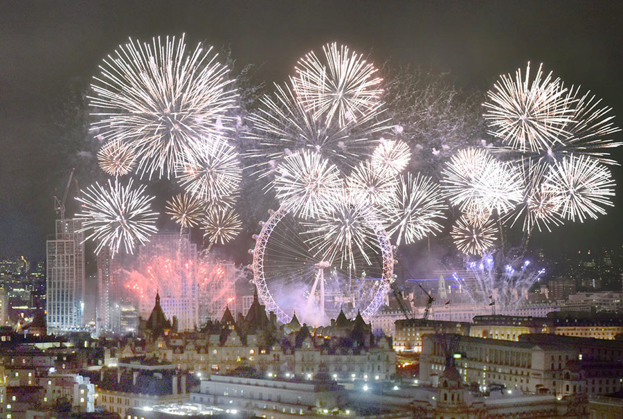 London restaurants for New Year's Eve