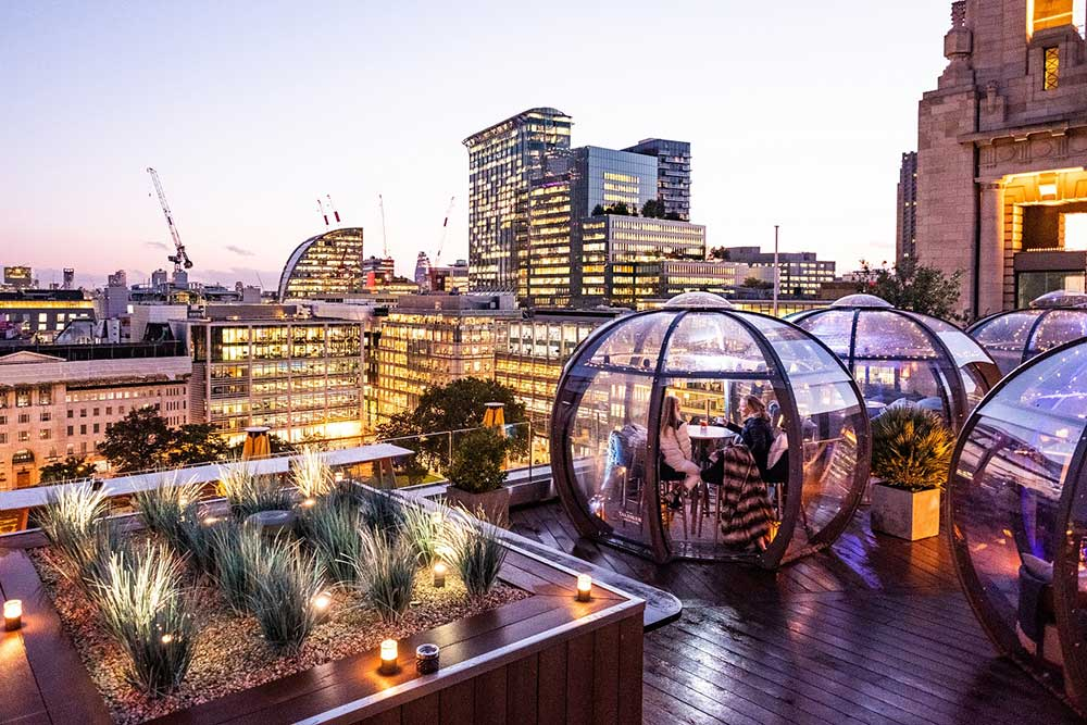 london's best alfresco heated and covered winter terraces
