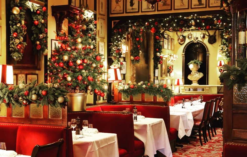 restaurants open on christmas day in London