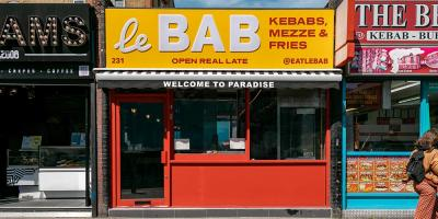 Le Bab Old Street sees them going back to basics with a kebab shop