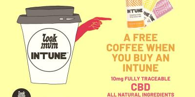Get a free cup of coffee with every can of INTUNE at Old Street's Look Mum No Hands