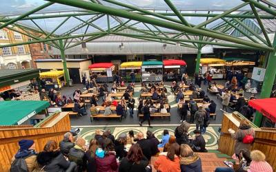 Test Driving Borough Market Kitchen - the market's open-air food court