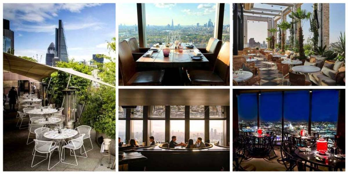 The best high-rise dining in London, with great views across town